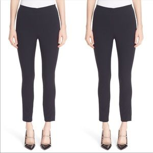 Theory navy blue ponte anckle pants back zipper